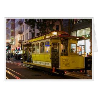 San Francisco Drahtseilbahn-Gruß-Karte