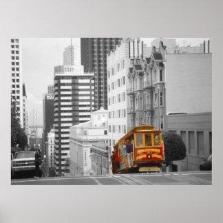 San Francisco Drahtseilbahn - Höhepunkt-Foto-Kunst Poster