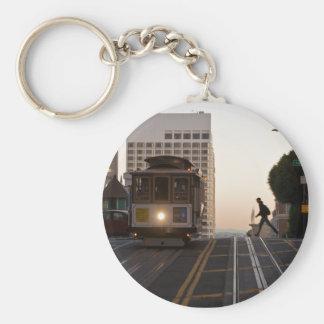 San Francisco Drahtseilbahn Keychain Standard Runder Schlüsselanhänger