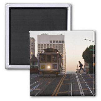 San Francisco Drahtseilbahn-Magnet Quadratischer Magnet