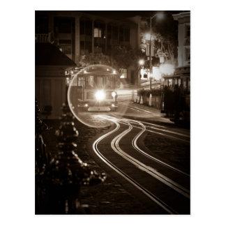 San Francisco Drahtseilbahn nachts Postkarten