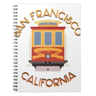 San Francisco Drahtseilbahn Notiz Buch