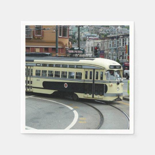 San Francisco Drahtseilbahn Papierserviette
