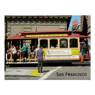 San Francisco Drahtseilbahn Plakat