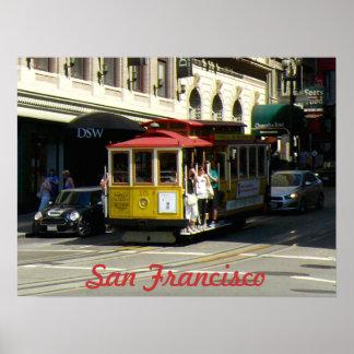 San Francisco Drahtseilbahn Poster