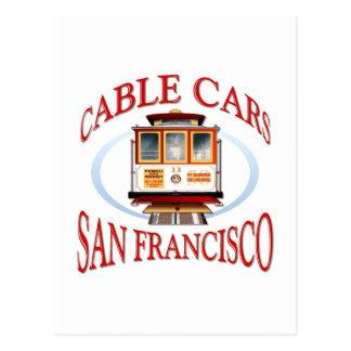 San Francisco Drahtseilbahn Postkarte