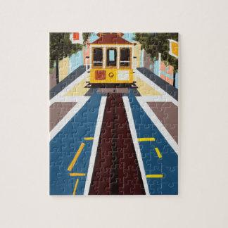 San Francisco Drahtseilbahn-Puzzlespiel Foto Puzzles