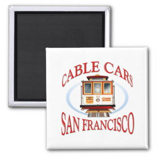 San Francisco Drahtseilbahn Quadratischer Magnet