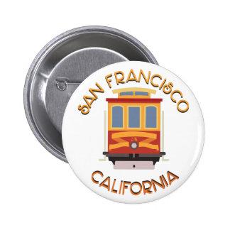 San Francisco Drahtseilbahn Runder Button 5,7 Cm