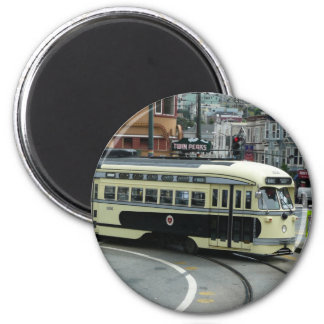 San Francisco Drahtseilbahn Runder Magnet 5,1 Cm