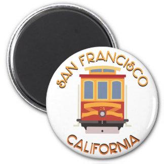 San Francisco Drahtseilbahn Runder Magnet 5,7 Cm