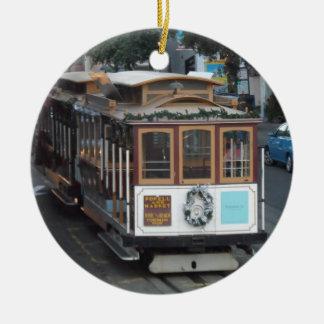 San Francisco Drahtseilbahn Rundes Keramik Ornament