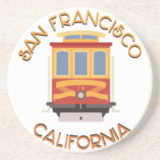 San Francisco Drahtseilbahn Sandstein Untersetzer