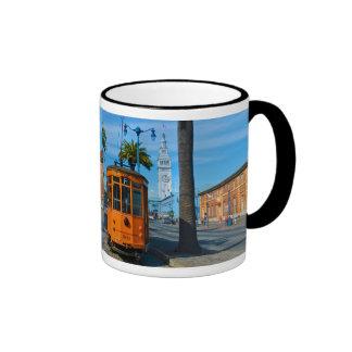 San Francisco Drahtseilbahn u Fähren-Gebäude Kaffee Tasse