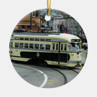 San Francisco Drahtseilbahn-Verzierung Weihnachtsornament