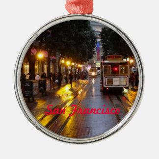 San Francisco Drahtseilbahn-Verzierung Weihnachtsbaum Ornament