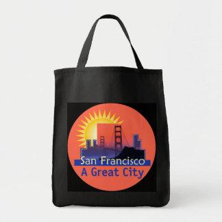SAN FRANCISCO eine große Stadt-Tasche Tragetasche