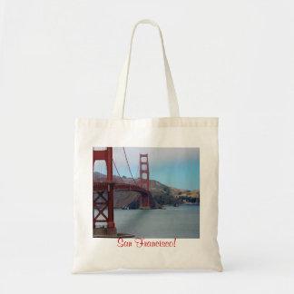 San Francisco, golden gate bridge Budget Stoffbeutel