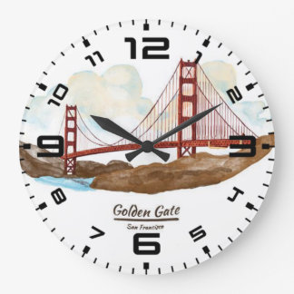 San Francisco Golden gate bridge Große Wanduhr