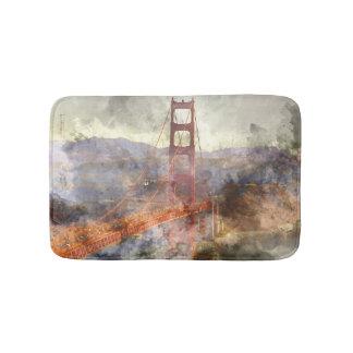 San Francisco Golden gate bridge in Kalifornien Badematten