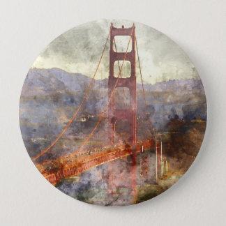 San Francisco Golden gate bridge in Kalifornien Runder Button 10,2 Cm