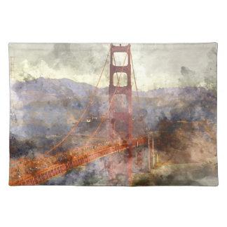 San Francisco Golden gate bridge in Kalifornien Stofftischset