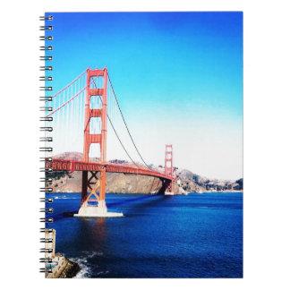 San Francisco Golden gate bridge Kalifornien Spiral Notizblock