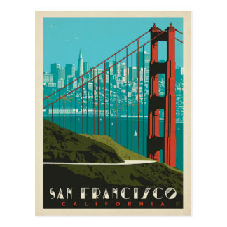 San Francisco | Golden gate bridge Skyline Postkarte
