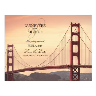 San Francisco Golden Gate, das Save the Date Postkarte