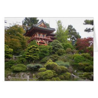 San Francisco japanische Tee-Garten-Karte Karte