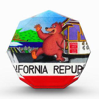 San Francisco Kalifornien Bärn-Flagge Acryl Auszeichnung