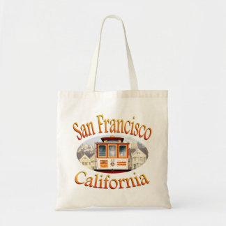 San Francisco Kalifornien Drahtseilbahn Budget Stoffbeutel