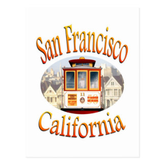 San Francisco Kalifornien Drahtseilbahn Postkarten