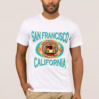 San Francisco Kalifornien Drahtseilbahn T-Shirt