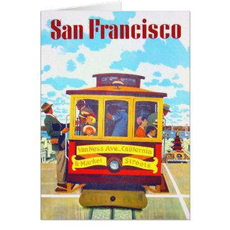 San Francisco Kalifornien Laufkatze-Auto-Golden Grußkarte
