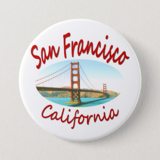 San Francisco Kalifornien Runder Button 7,6 Cm