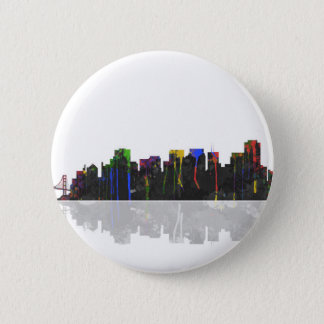 San Francisco Kalifornien Skyline Runder Button 5,1 Cm