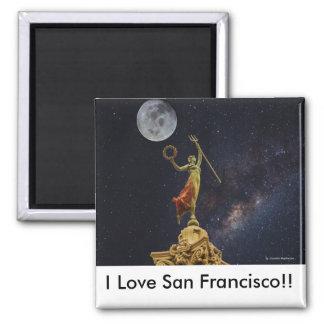 San Francisco Küchen-Magnet Quadratischer Magnet
