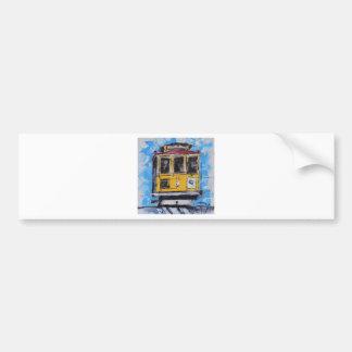 San Francisco Kunst, Drahtseilbahn-Malerei, Autoaufkleber
