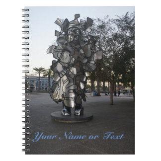 San Francisco LaChiffonniere Notizbuch Skulptur-#2 Spiral Notizblock