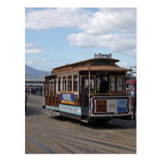 San Francisco Laufkatze-Autos Postkarte