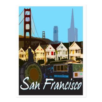 San Francisco Montage-Postkarte Postkarte
