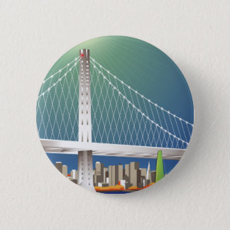 San Francisco neues Oakland Runder Button 5,7 Cm