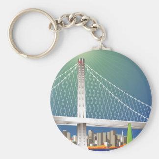 San Francisco neues Oakland Schlüsselanhänger