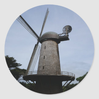 San Francisco niederländische Windmühlen-Aufkleber Runder Aufkleber