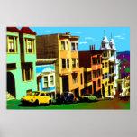 San Francisco Pop-Kunst - Nob- Hillansicht 69 Posterdrucke