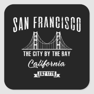 San Francisco Quadratischer Aufkleber