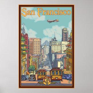 San Francisco Reise-Plakat - Kalifornien-Straße Poster