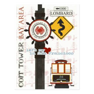 San Francisco Reise-Stellen Postkarte