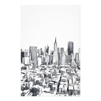 San Francisco SF Citiscape Fotografie Briefpapier